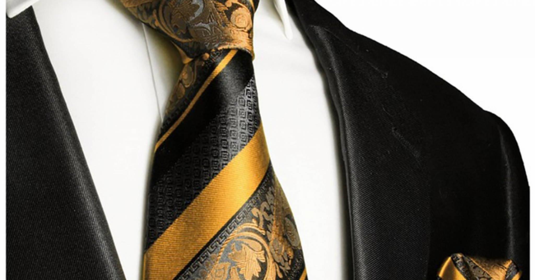 f4768e37f8 Fekete - arany, selyem nyakkendő